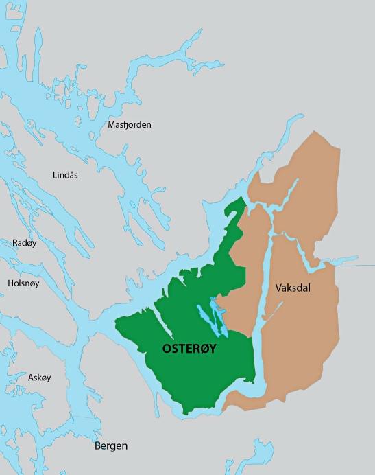 kart over osterøy Osterøy kommune 1964 kart over osterøy